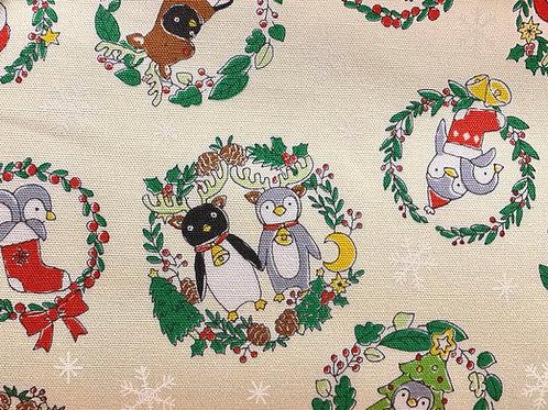 Cream Costume Animal Christmas Fabric Cotton Oxford