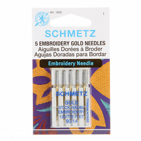 Schmetz Gold Embroidery Needles size 90/14