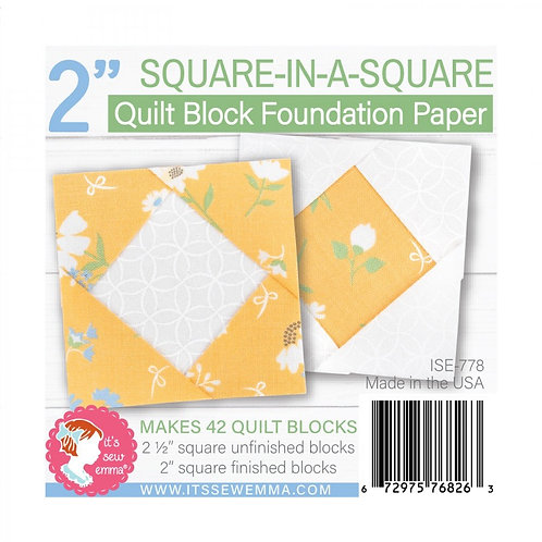 Square in a Square Quilt Block 2in Foundation Paper Pad
