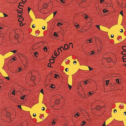 Pokemon Heads Fabric