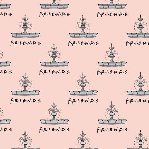 FLANNEL - Friends Fountain Flannel Fabric