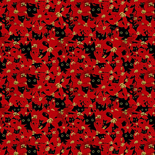 Deck The Paws Cats Christmas Fabric