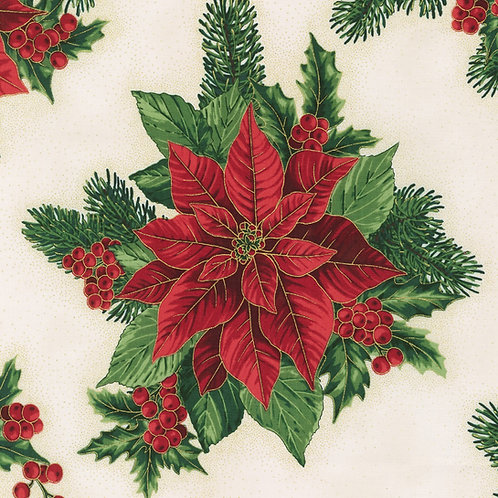 Holiday Flourish Holiday Poinsettia Cream w/metallic
