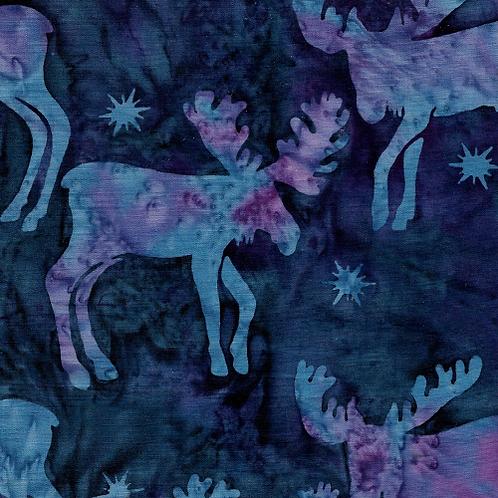 Island Batik Wonderland - Moose Blueberry Wonderland