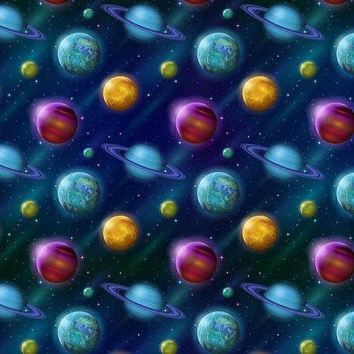 Galaxy Planets Fabric