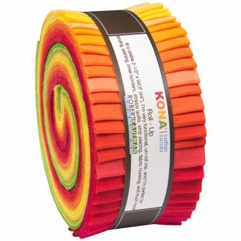 Robert Kaufman Christa Watson Designer Palette Kona Solids Roll Up
