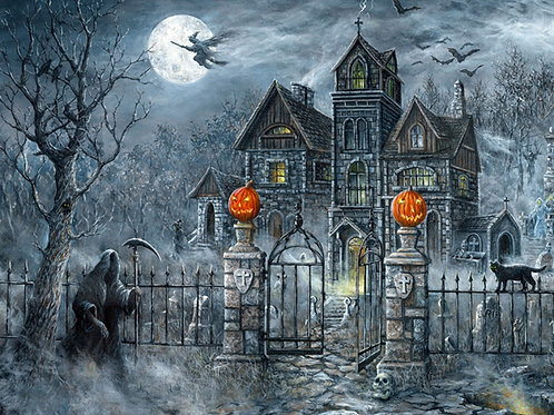 Uninvited Guests Haunted House Halloween Panel