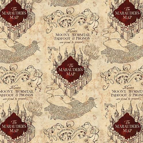 Harry Potter Marauders Map Fabric
