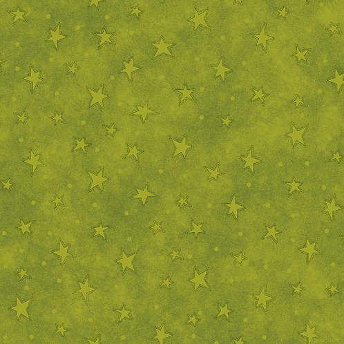 Lime Starry Fabric