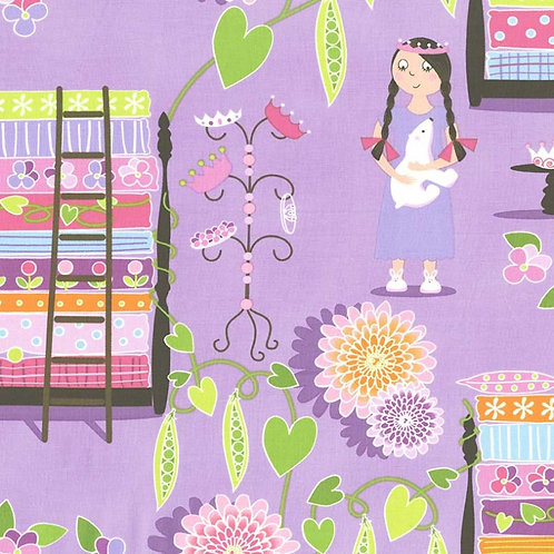 Michael Miller Princess and the Pea Lavender