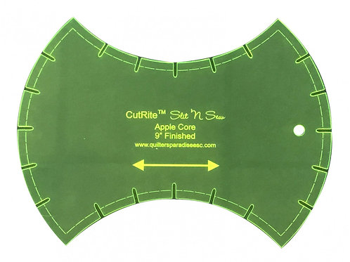 CutRite Slit N Sew Apple Core 9 Inch Finished Template