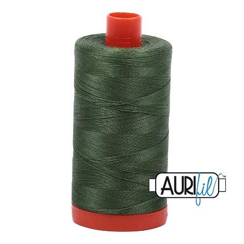 Aurifil 50 1300m 2890 Very Dark Grass Green Cotton Thread