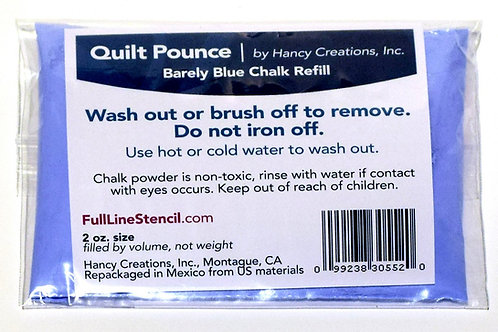 Refill for Ultimate Pounce Powder Pad for Quilt Stencils. Pink