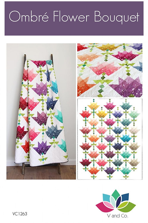 Ombre Flower Boutique Quilt Pattern