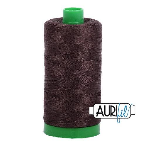 Aurifil 40 1000m 1130 Very Dark Brown Cotton Thread