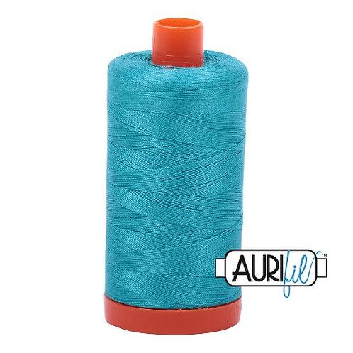 Aurifil 50 1300m 2810 Turquoise Cotton Thread