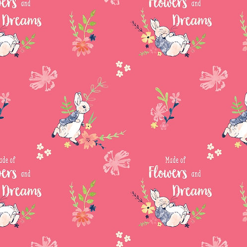 Peter Rabbit Flowers and Dreams Fabric
