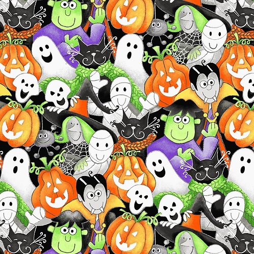 Here We Glow Multi Packed Faces Glow In The Dark Fabric