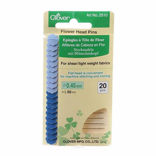 Clover Flowerhead Fine Pins 2in 20ct