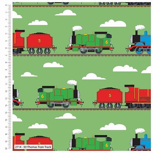 Thomas Explore Train Track Fabric