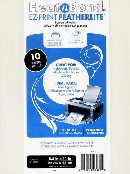"""Heat N Bond EZ Print Feather Lite 8.5"""" x 11"""" x 10 Sheets"""