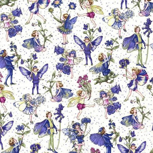 Peri Petite Flower Fairies Fabric with Glitter