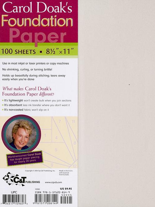 Carol Doak's Foundation Paper 100 Sheets