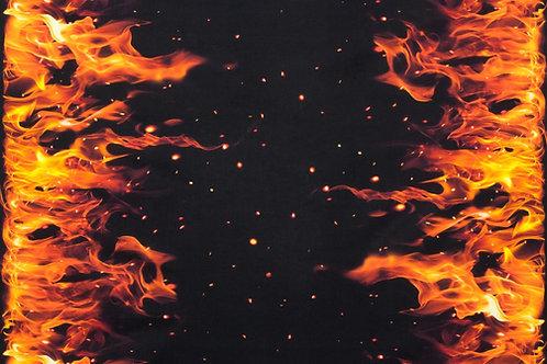 Flames Blaze Border Fabric