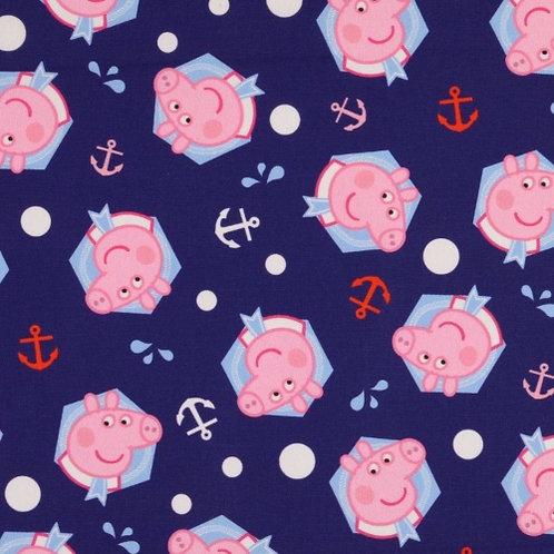Peppa Pig Navy Fabric