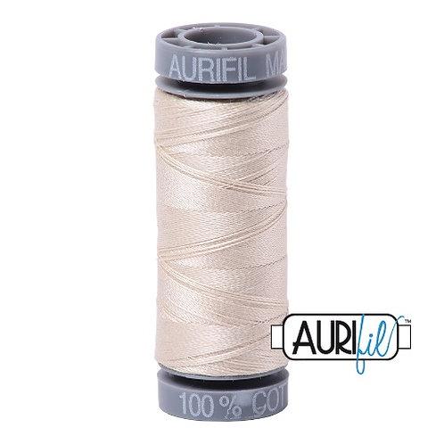 Aurifil 28 100m 2310 Light Beige Cotton Thread