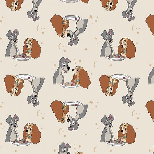 Disney Lady and the Tramp Stars in Their Eyes Fabric