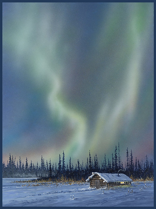 Multi Northern Lights Panel 32.25in x 43in Digitally Printed