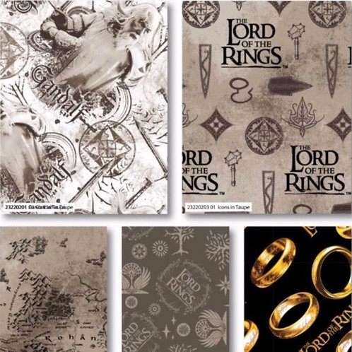 Lord Of the Rings x 5 Fat Quarters