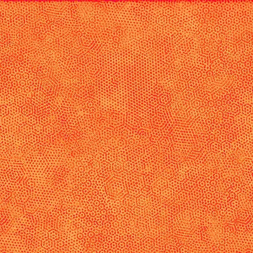 1867/O1 Carrot Makower Andover Dimples Fabric
