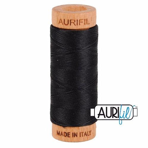 Aurifil 80 280m 2692 Black Cotton Thread