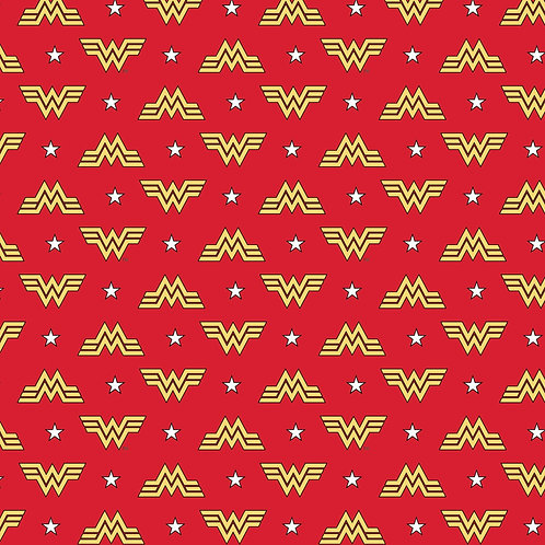 Wonder Woman 1984 Logo Fabric - Red