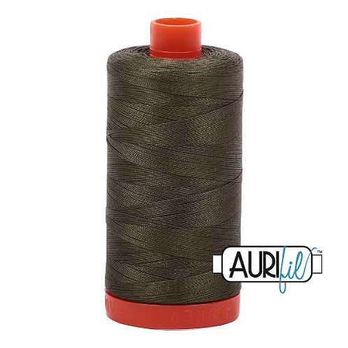 Aurifil 50 1300m 2905 Army Green Cotton Thread