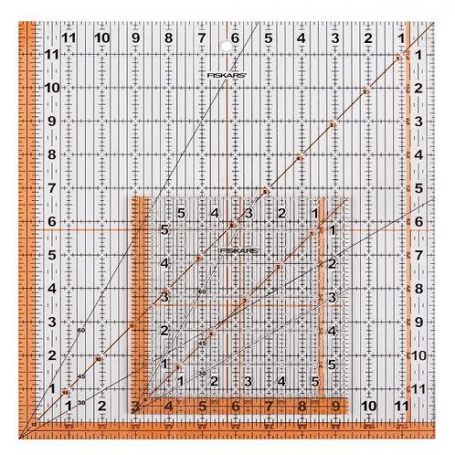 "Fiskars Square Ruler Set - 6.5""x 6.5"" and 12.5""x 12.5"""