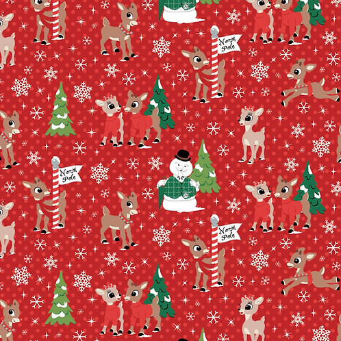 Christmas Rudolph & Friends North Pole - Red