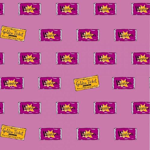 Charlie and the Chocolate Factory Wonka Bar Fabric