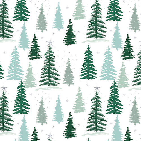 Snowy Woodland Forest