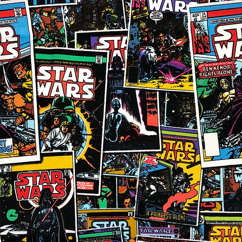 Star Wars Comic Book Covers Fabric