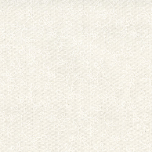 Maywood Soft White Lacey Vines Fabric 207 - SW