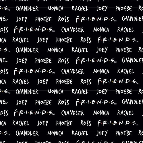 Friends Names Fabric