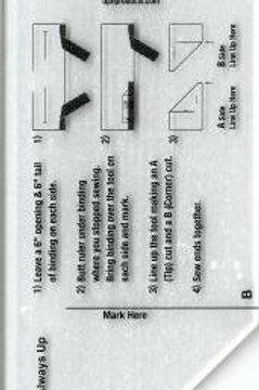 Mini binding Tool Template Ruler