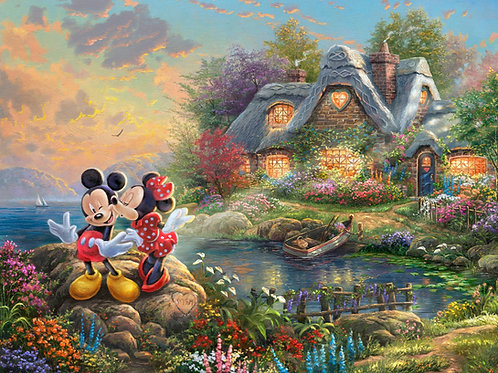 Disney Dreams Mickey and Minnie Mouse Sweetheart Cove Panel