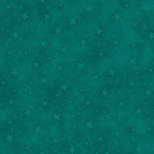 New Teal Starry Fabric