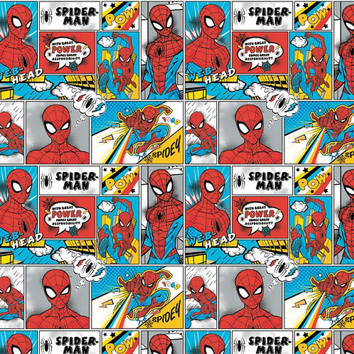 FLANNEL - Spiderman Action Fabric