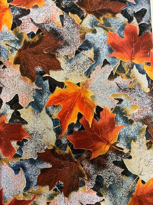 Hoffman Frosted Fall Leaves Multi Fabric
