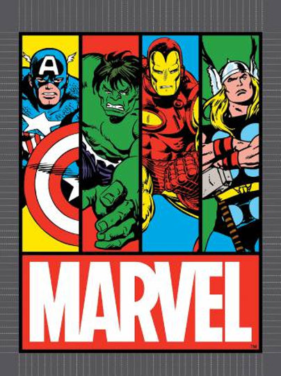 Marvel Comics Fabric Panel
